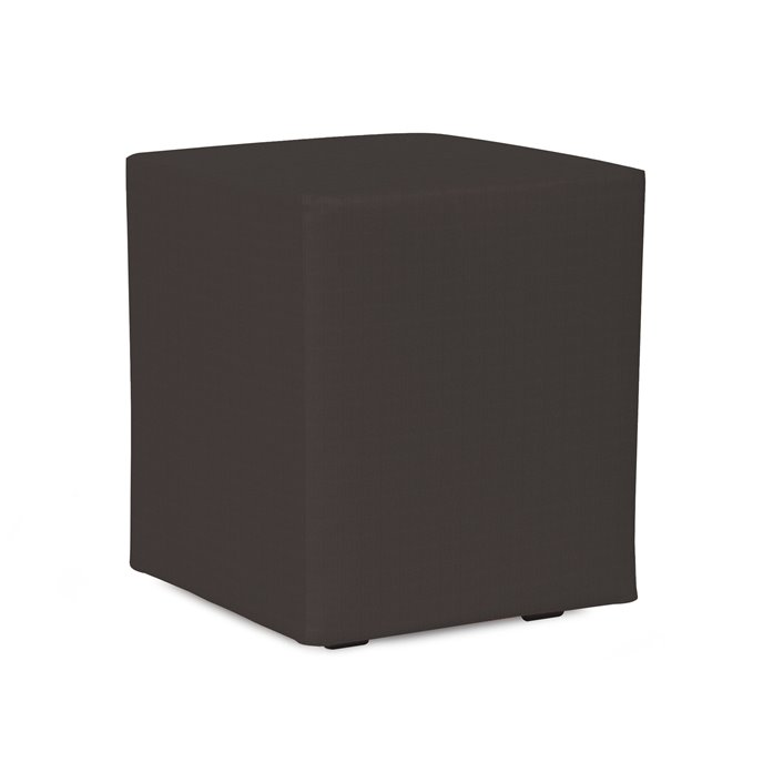 Howard Elliott Universal Cube Cover Sunbrella Outdoor Seascape Charcoal - Cover Only, Base Not Included Thumbnail