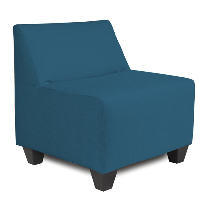 Howard Elliott Pod Chair Cover Sunbrella Outdoor Seascape Turquoise - Cover Only, Cushion and Frame Not Included Thumbnail