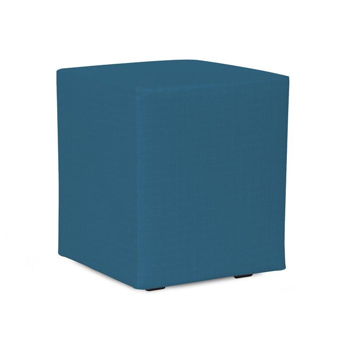 Howard Elliott Universal Cube Outdoor Sunbrella Seascape Turquoise Complete Ottoman Thumbnail