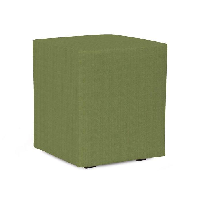 Howard Elliott Universal Cube Outdoor Sunbrella Seascape Moss Complete Ottoman Thumbnail