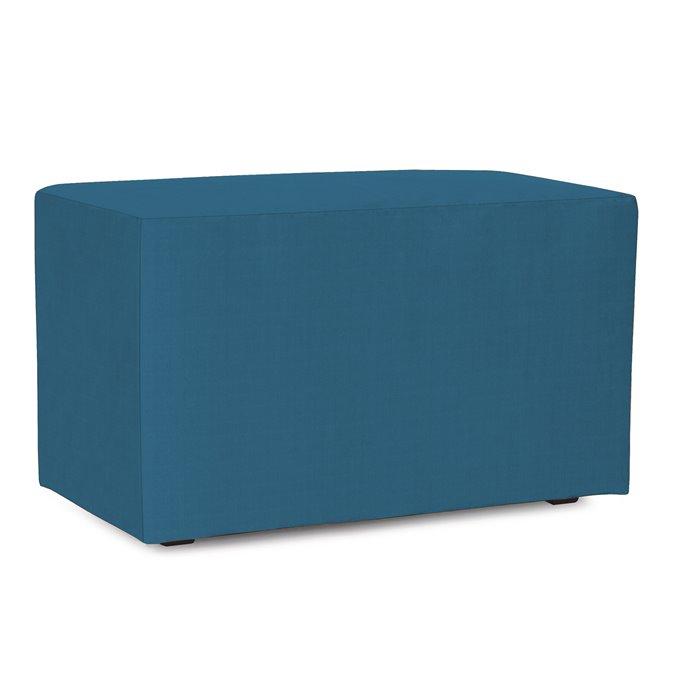 Howard Elliott Universal Bench Outdoor Sunbrella Seascape Turquoise Complete Ottoman Thumbnail