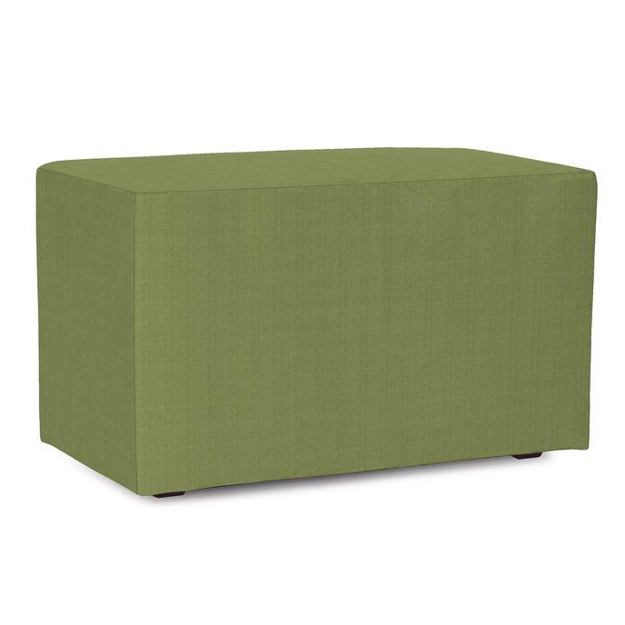 Howard Elliott Universal Bench Outdoor Sunbrella Seascape Moss Complete Ottoman Thumbnail