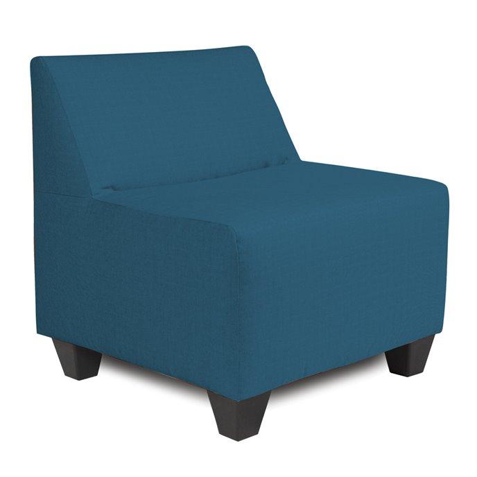 Howard Elliott Pod Chair Outdoor Sunbrella Seascape Turquoise Complete Chair Thumbnail