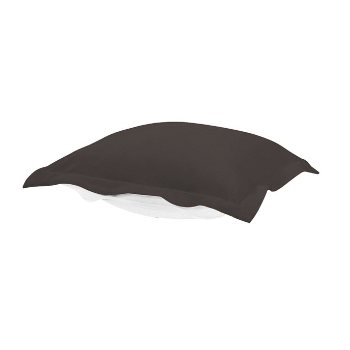 Howard Elliott Puff Chair Ottoman Outdoor Sunbrella Seascape Charcoal Cushion and Cover Thumbnail