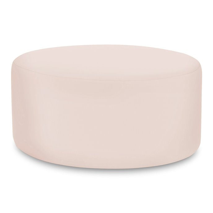 Howard Elliott Universal Round Ottoman Cover Sunbrella Outdoor Seascape Sand - Cover Only, Base Not Included Thumbnail