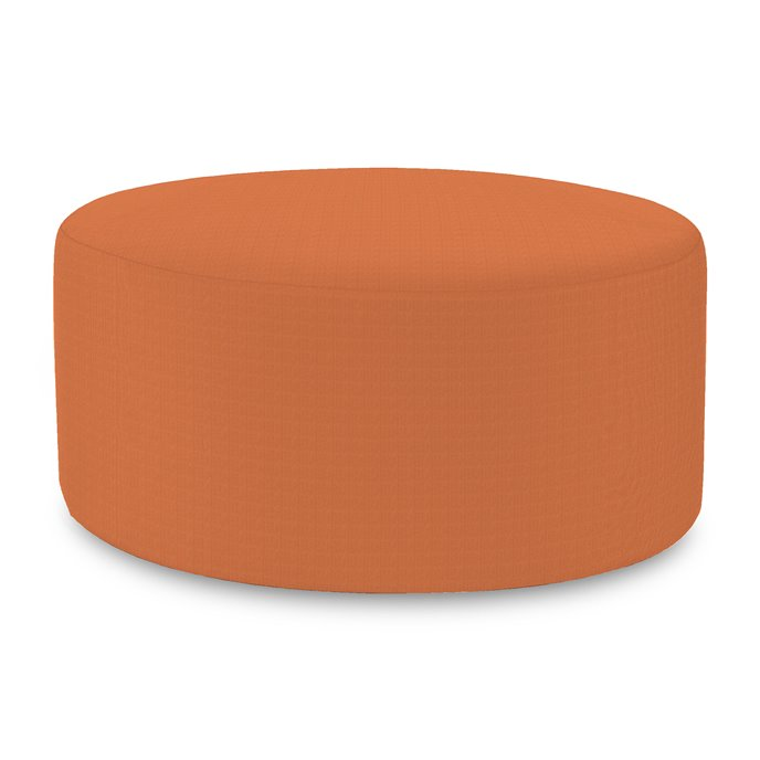 Howard Elliott Universal Round Ottoman Cover Sunbrella Outdoor Seascape Canyon - Cover Only, Base Not Included Thumbnail
