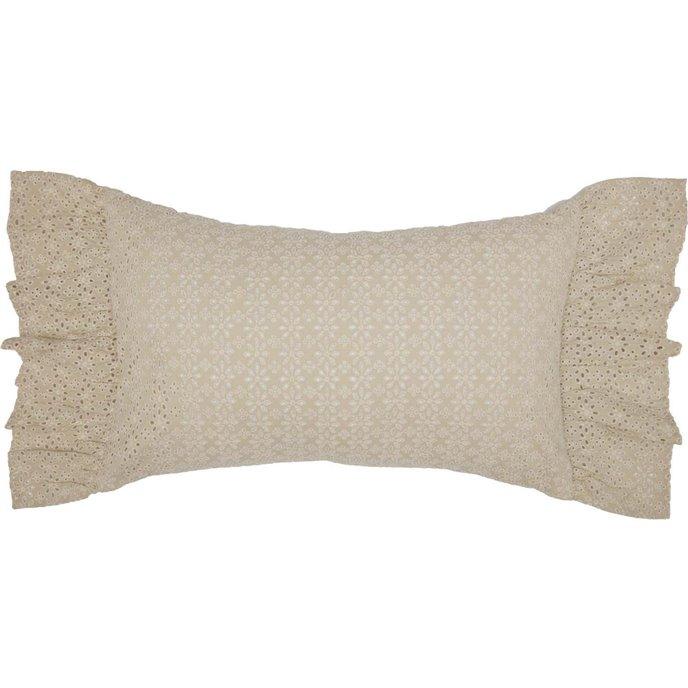 Camilia Eyelet Pillow 14x22 Thumbnail