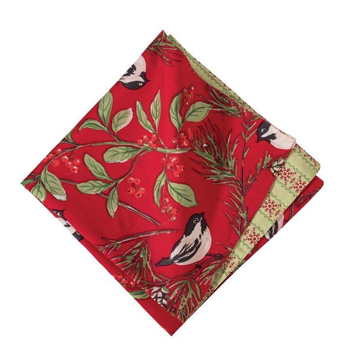 Chickadee Red Napkin Thumbnail