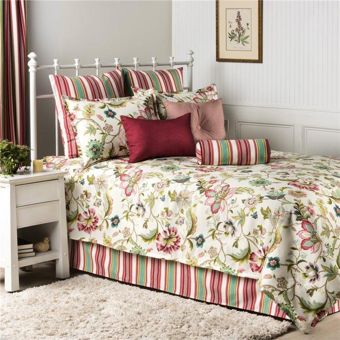Charleston Square Pillow - Red Check Thumbnail
