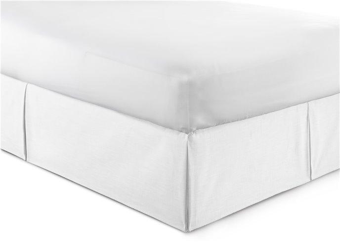 "Cambric White Bedskirt 18"" Drop California King Thumbnail"