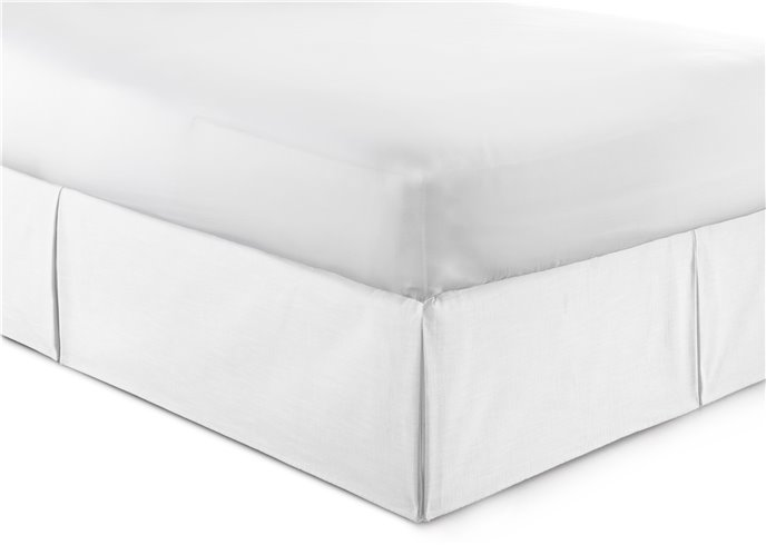 """Cambric White Bedskirt 18"""" Drop Twin/Twin-XL Thumbnail"""