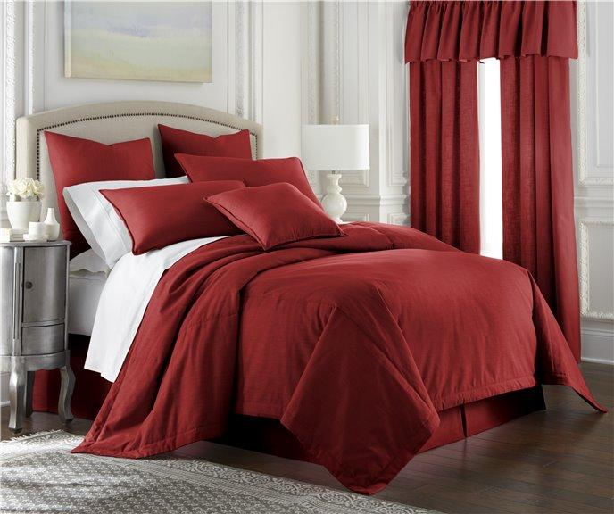 Cambric Red Duvet Cover California King Thumbnail