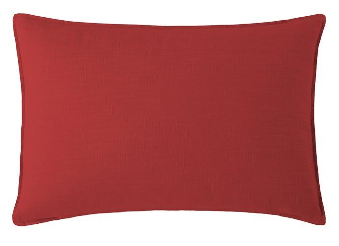 Cambric Red Pillow Sham Standard/Queen Thumbnail