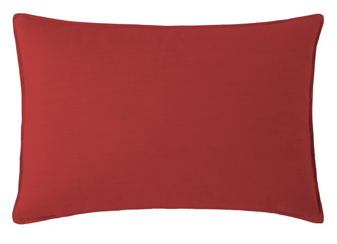 Cambric Red Pillow Sham King Thumbnail