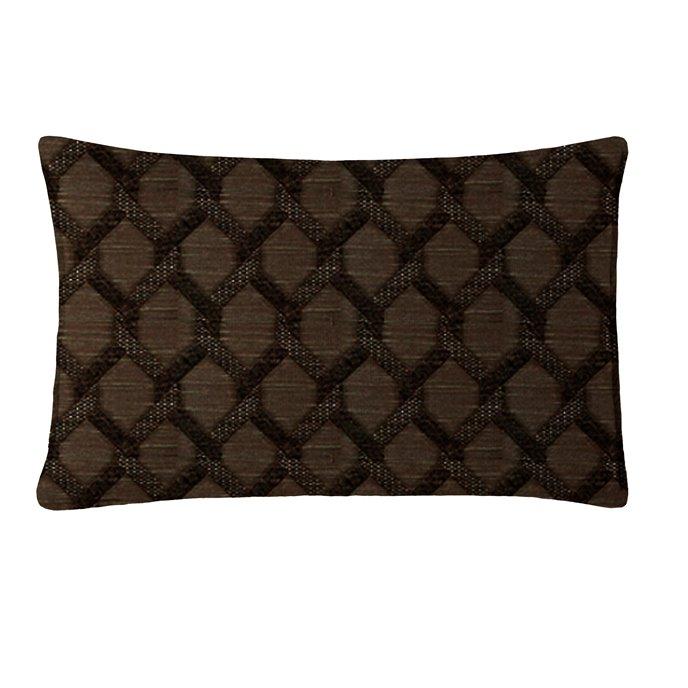"Malden Chocolate Rectangle Pillow 14""x22"" Thumbnail"