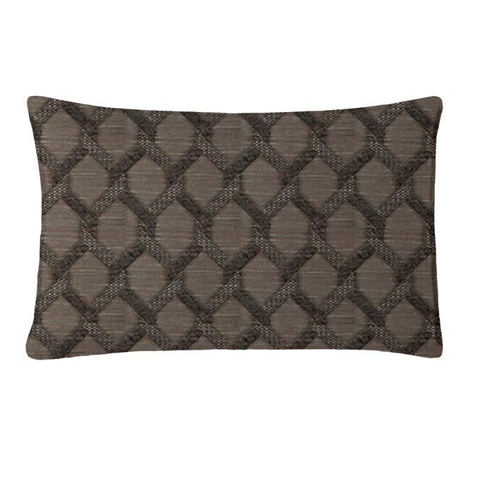 "Malden Charcoal Rectangle Pillow 14""x42"" Thumbnail"