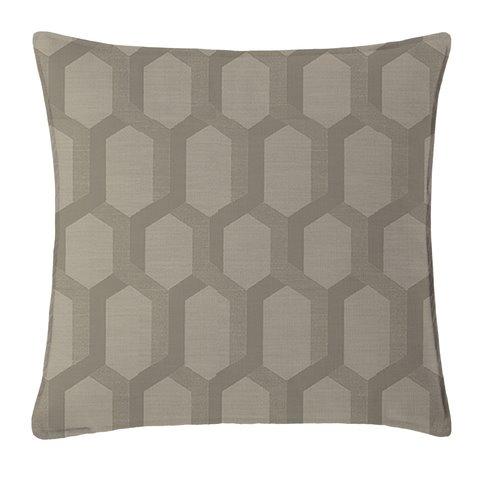 "Maidstone Taupe Square Pillow 18""x18"" Thumbnail"