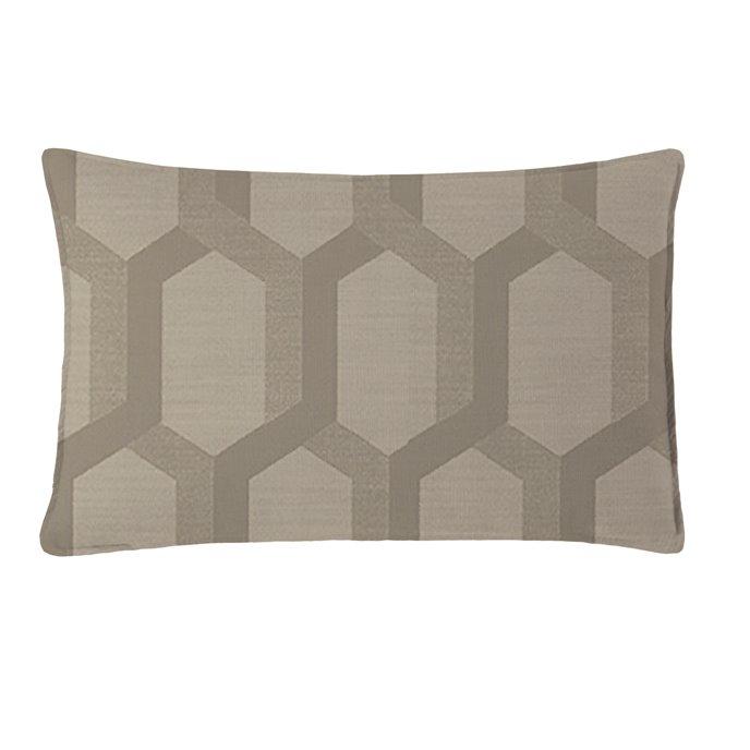 "Maidstone Taupe Rectangle Pillow 14""x22"" Thumbnail"