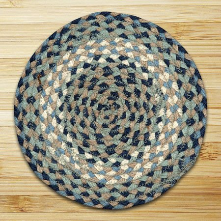 """Blue & Natural Round Swatch 10""""x10"""" Thumbnail"""