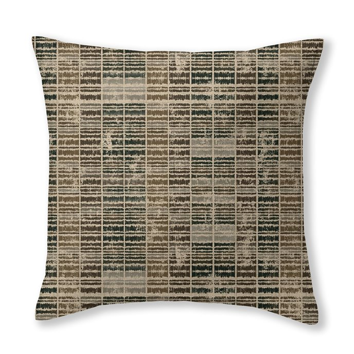"""Eaton Cocoa Square Cushion 20""""x20"""" Thumbnail"""