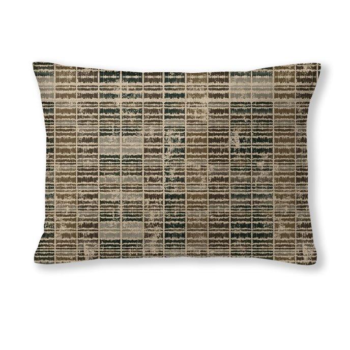 "Eaton Cocoa Rectangle Pillow 14""x20"" Thumbnail"