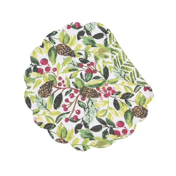 Tyson Pines Round Quilted Placemat Thumbnail