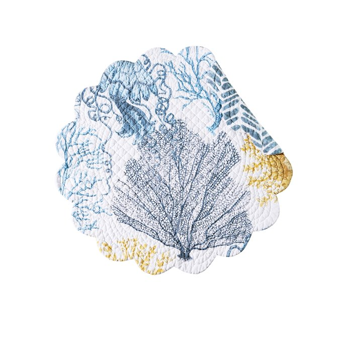 Monterey Mist Round Quilted Placemat Thumbnail