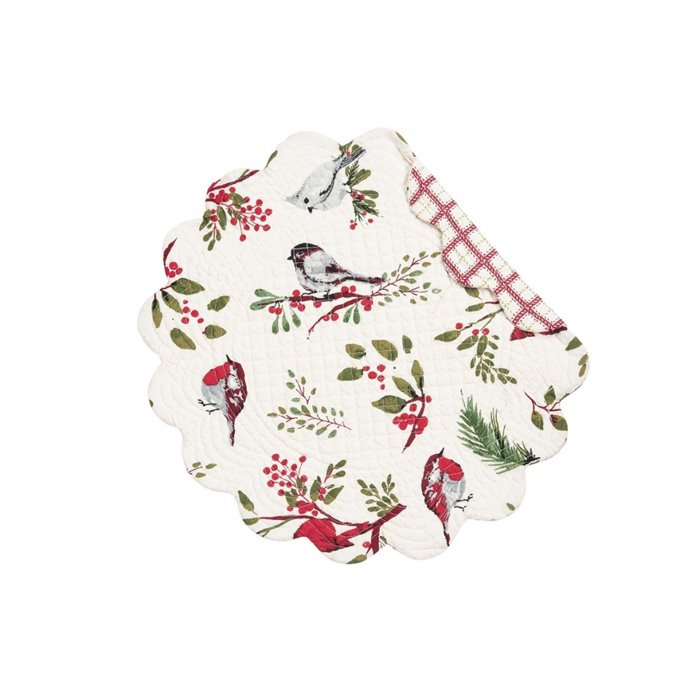 Sprig Birds Round Quilted Placemat Thumbnail
