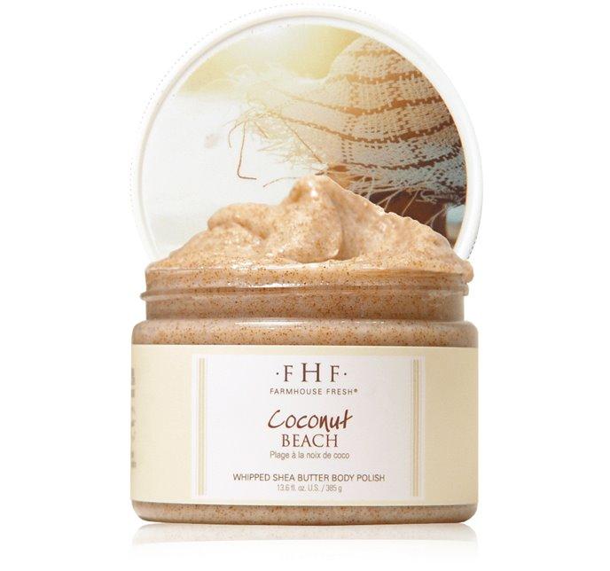Farmhouse Fresh Coconut Beach Whipped Shea Butter Body Polish (12 oz) Thumbnail