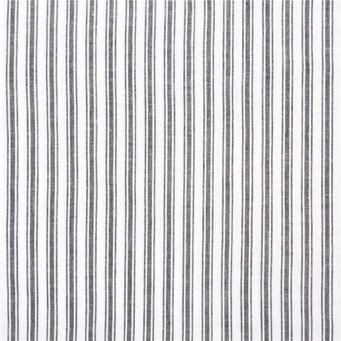 Sawyer Mill Black Ruffled Ticking Stripe King Pillow Case Set of 2 21x36+4 Thumbnail