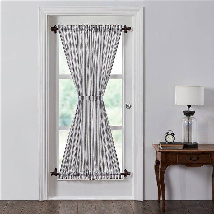 Sawyer Mill Black Ticking Stripe Door Panel 72x40 Thumbnail
