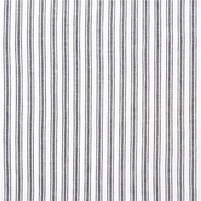 Sawyer Mill Black Ticking Stripe Fabric Euro Sham 26x26 Thumbnail