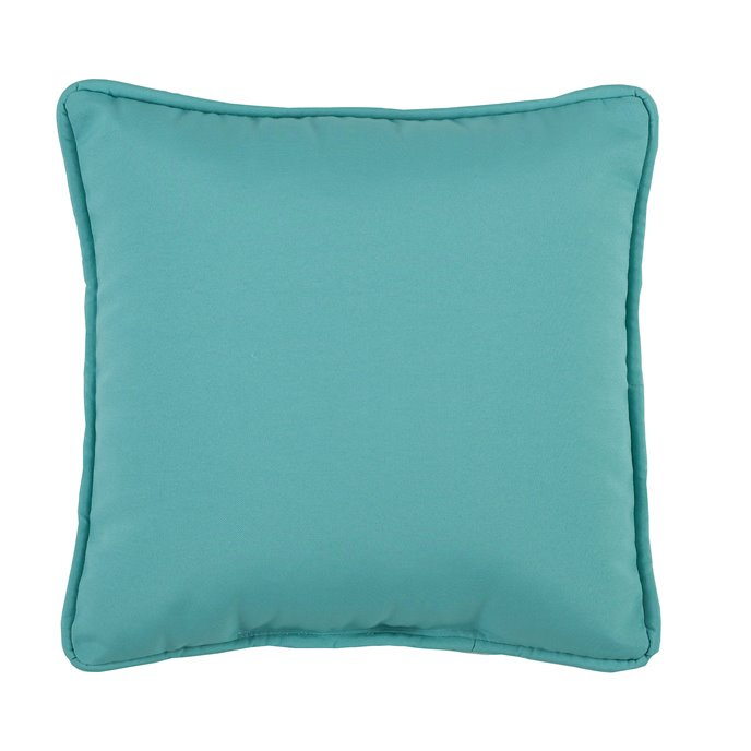 Tropical Paradise Blue Square Pillow - Teal Thumbnail