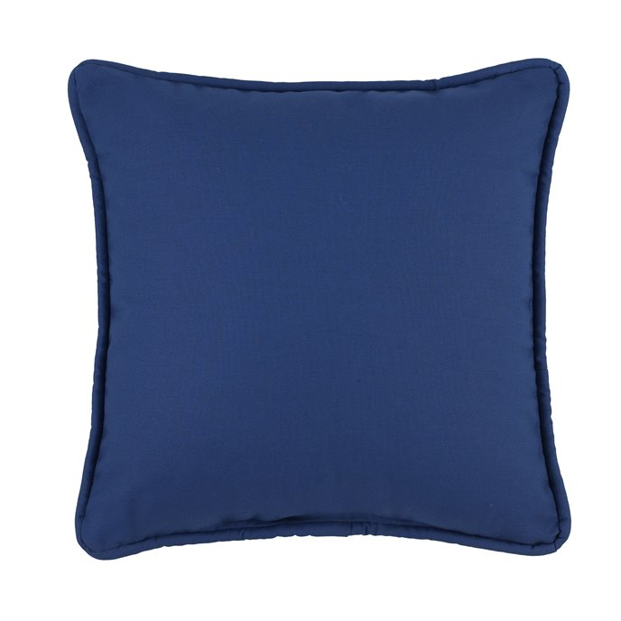 Tropical Paradise Blue Square Pillow - Navy Thumbnail
