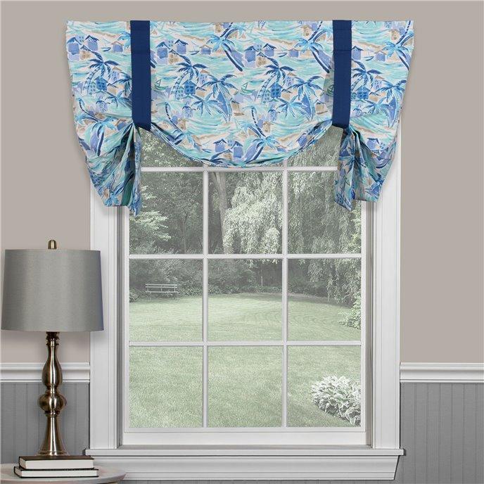 Tropical Paradise Blue Tie Up Curtain Thumbnail