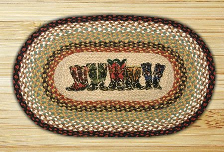 "Boots Braided and Printed Oval Rug 20""x30"" Thumbnail"