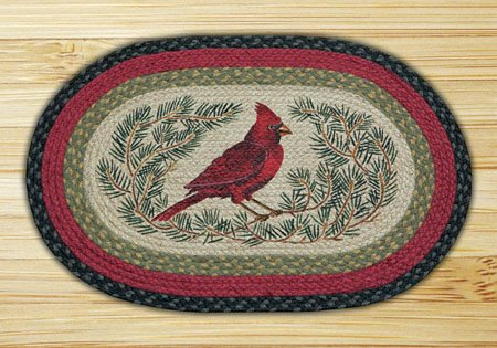 "Cardinal Braided and Printed Oval Rug 20""x30"" Thumbnail"