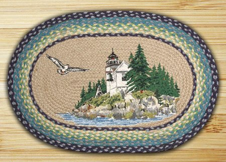 """Bass Harbor Braided and Printed Oval Rug 20""""x30"""" Thumbnail"""