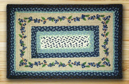 """Blueberry Vine Braided and Printed Rectangle Rug 20""""x30"""" Thumbnail"""