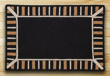 Black Soft Patch In The City In The City Rug 5'x8' Thumbnail