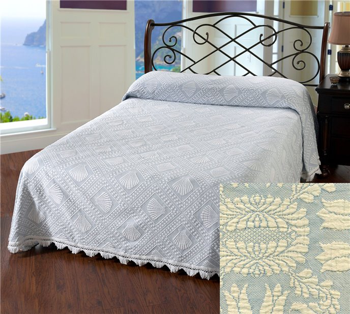 Cape Cod Queen French Blue Bedspread Thumbnail