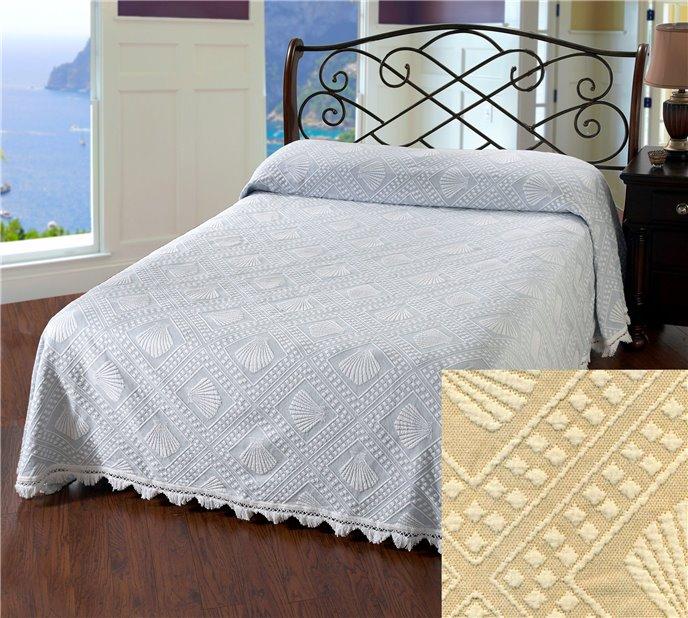 Cape Cod Full Linen Bedspread Thumbnail