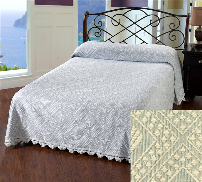 Cape Cod King Sage Bedspread Thumbnail