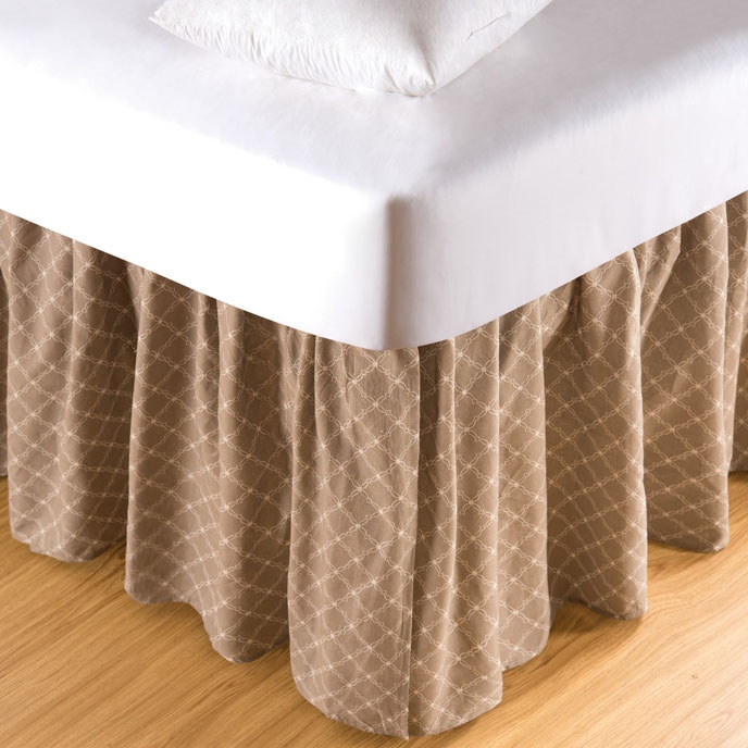 Seraphina Clay Queen Bed Skirt Thumbnail