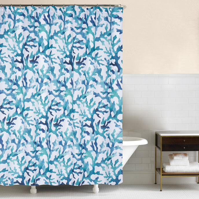 Aqua Reef Shower Curtain Thumbnail