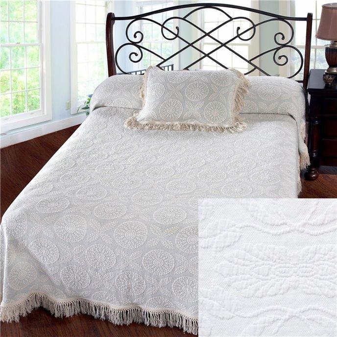 Heirloom Twin White Bedspread Thumbnail