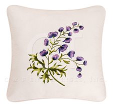 Celine Embroidered Flower Feather Down Pillow Thumbnail