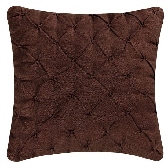 Brown Pintucked Feather Down Pillow Thumbnail