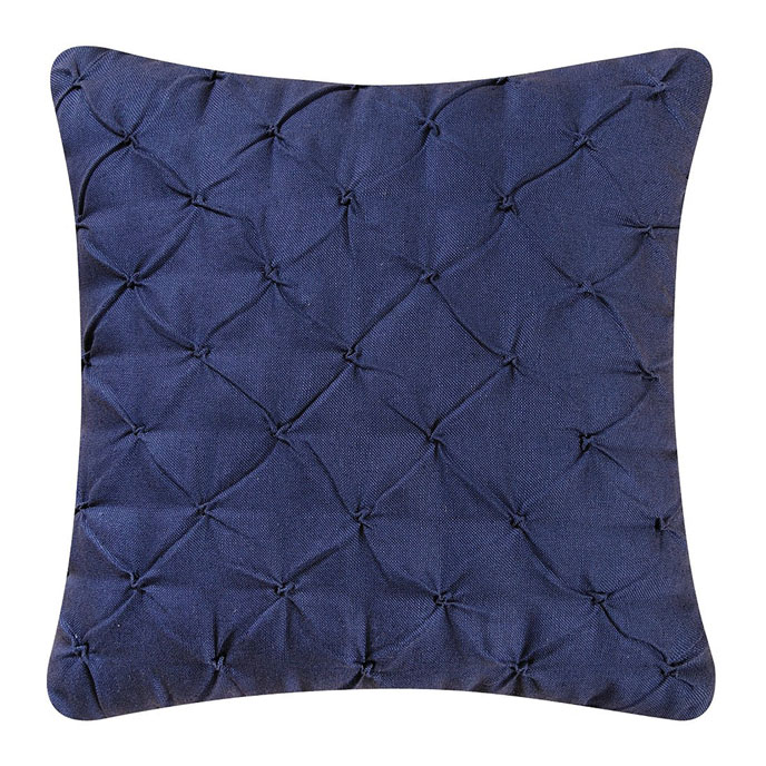 Diamond Tuck Navy Blue Pillow Thumbnail