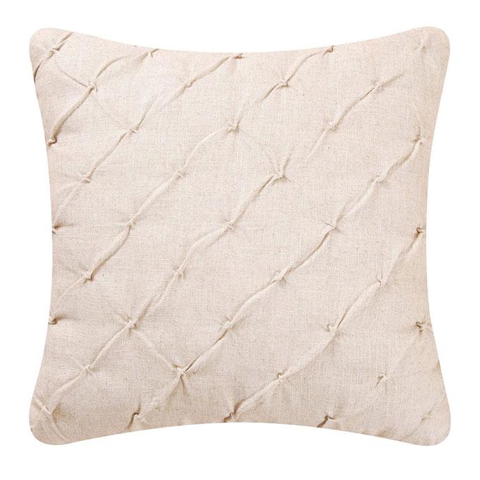 Cream Pintucked Feather Down Pillow Thumbnail